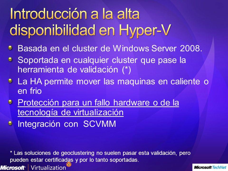 Introducción a la alta disponibilidad en Hyper-V