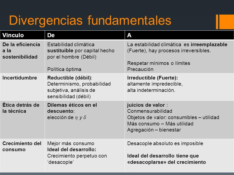 Divergencias fundamentales