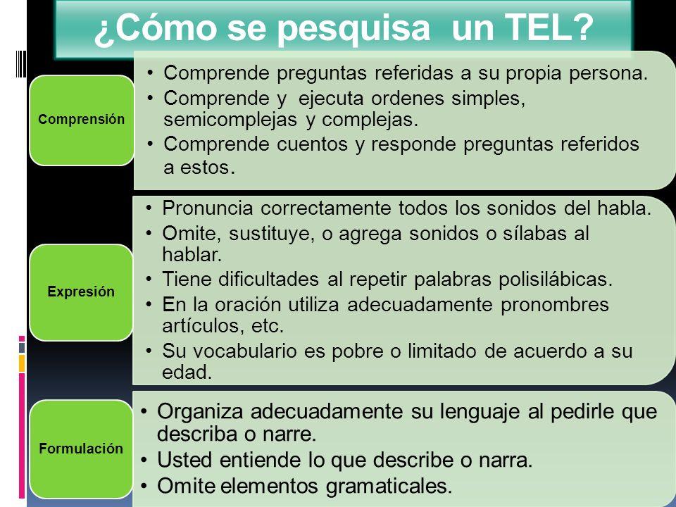 ¿Cómo se pesquisa un TEL