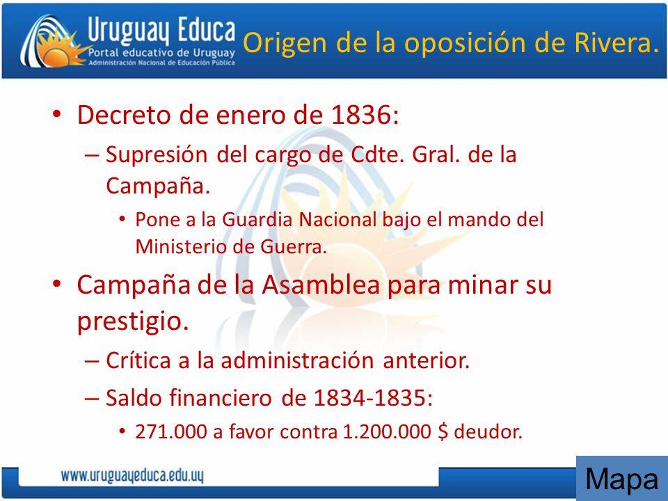 Origen de la oposición de Rivera.