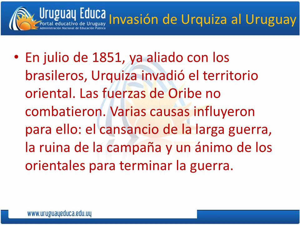 Invasión de Urquiza al Uruguay