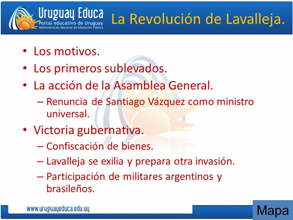 La Revolución de Lavalleja.