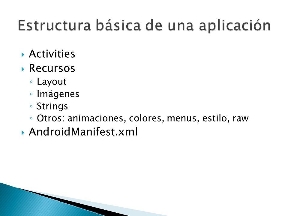 Estructura básica de una aplicación