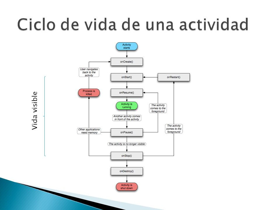 Ciclo de vida de una actividad