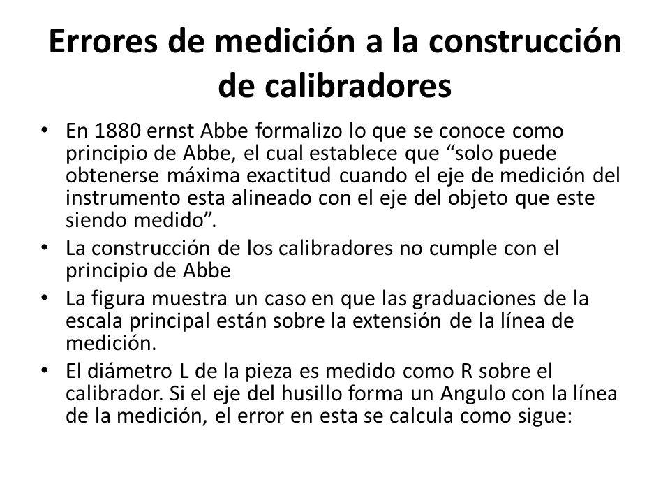 Errores de medición a la construcción de calibradores