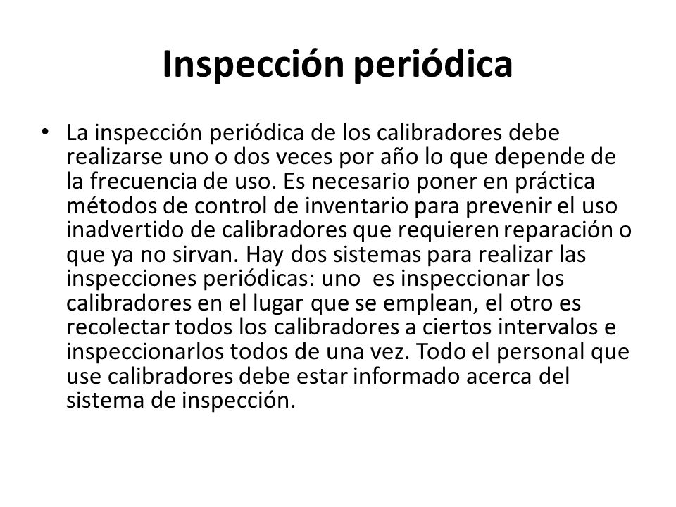 Inspección periódica