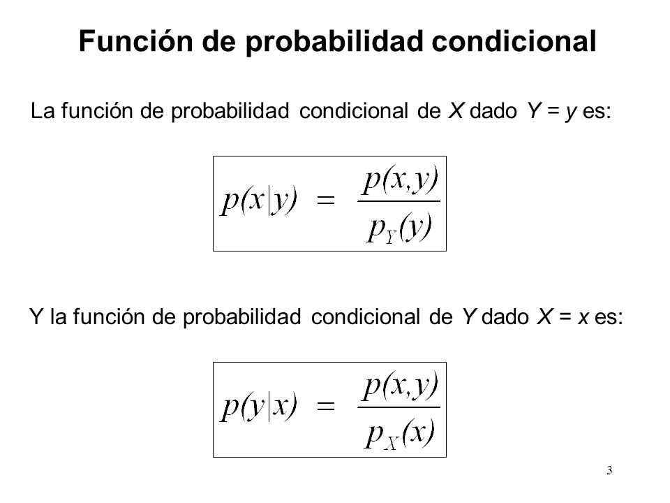 Función de probabilidad condicional