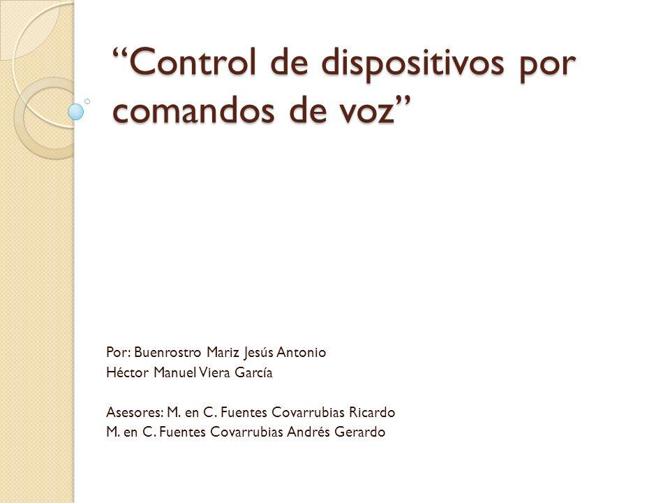 Control de dispositivos por comandos de voz