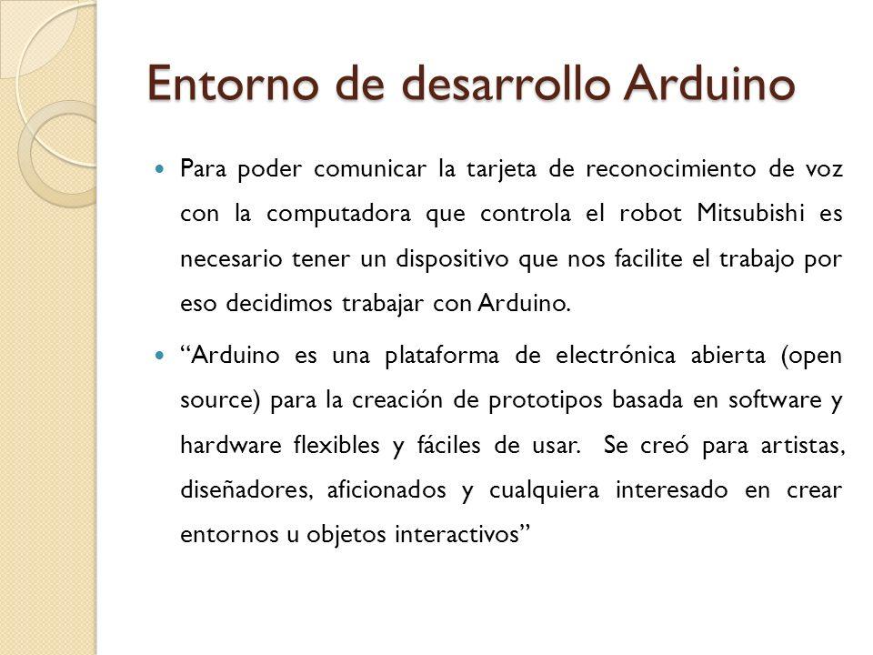 Entorno de desarrollo Arduino