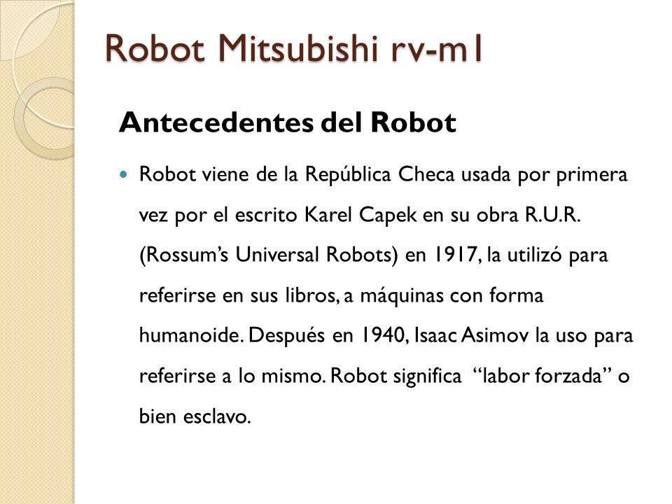 Robot Mitsubishi rv-m1 Antecedentes del Robot