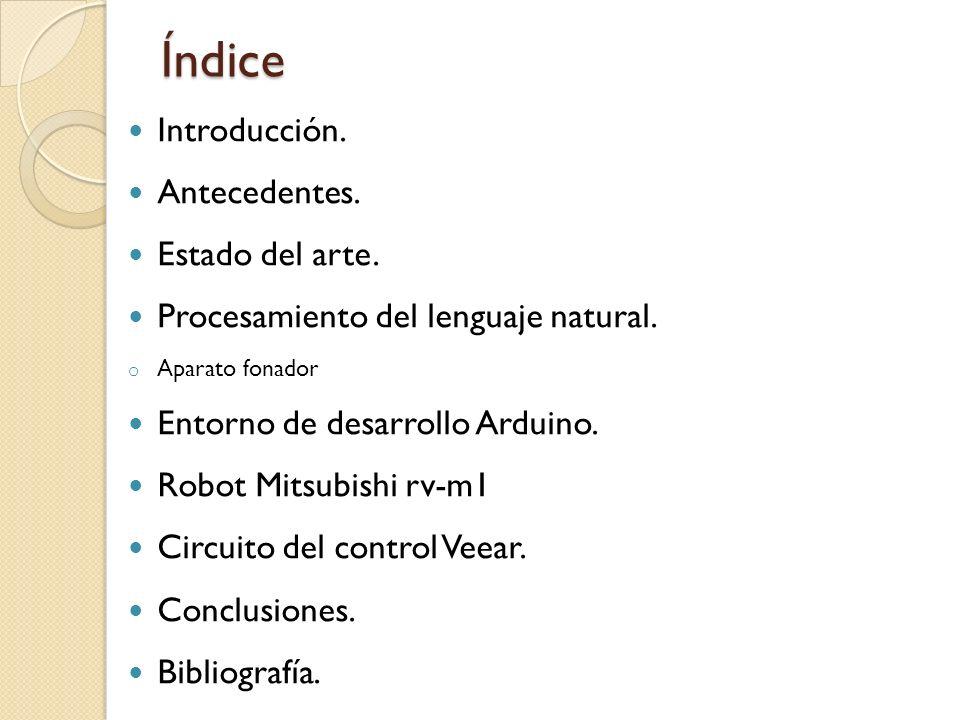 Índice Introducción. Antecedentes. Estado del arte.
