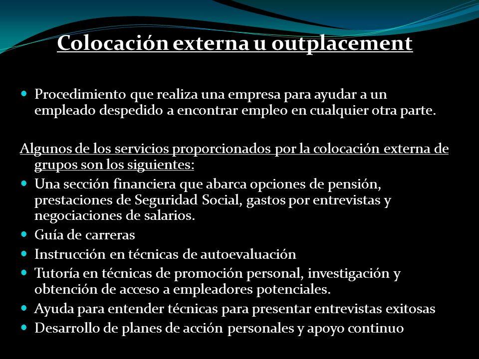 Colocación externa u outplacement