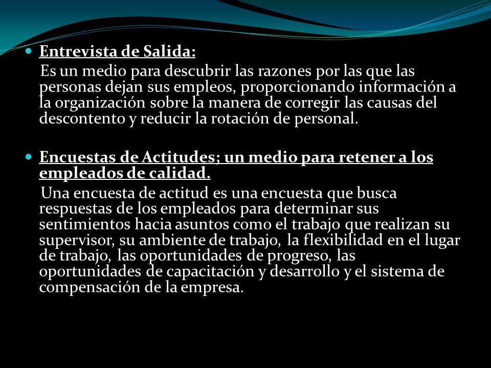Entrevista de Salida: