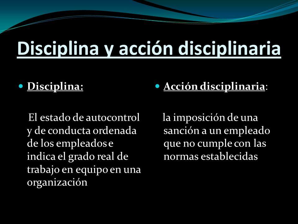 Disciplina y acción disciplinaria