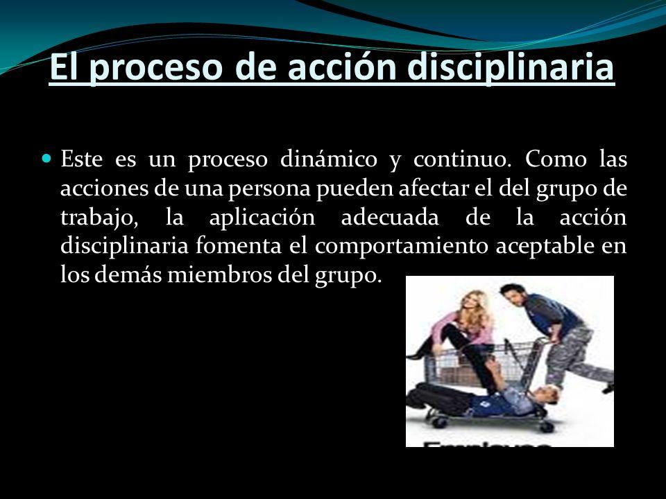 El proceso de acción disciplinaria