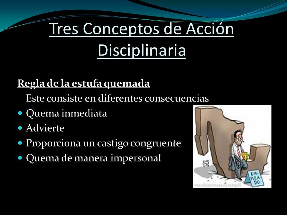 Tres Conceptos de Acción Disciplinaria