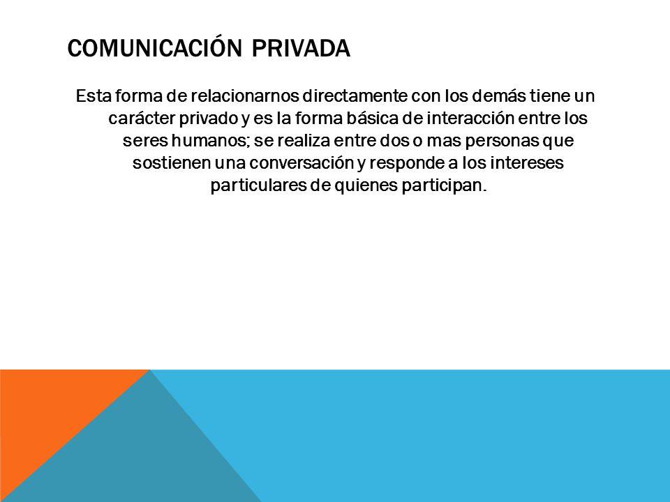 Comunicación privada