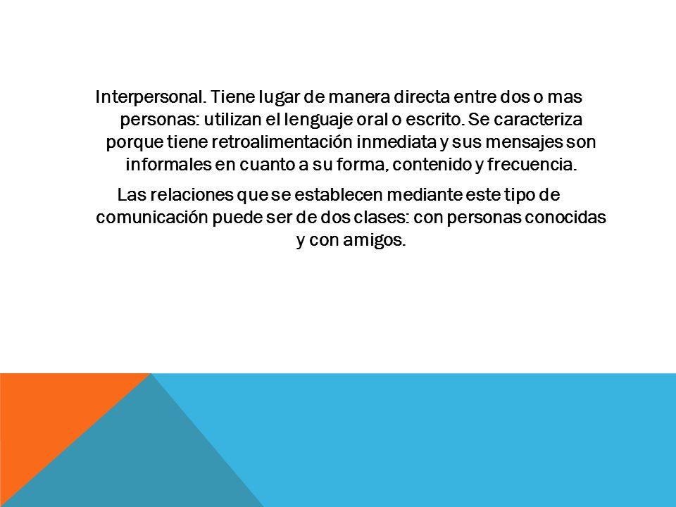 Interpersonal.
