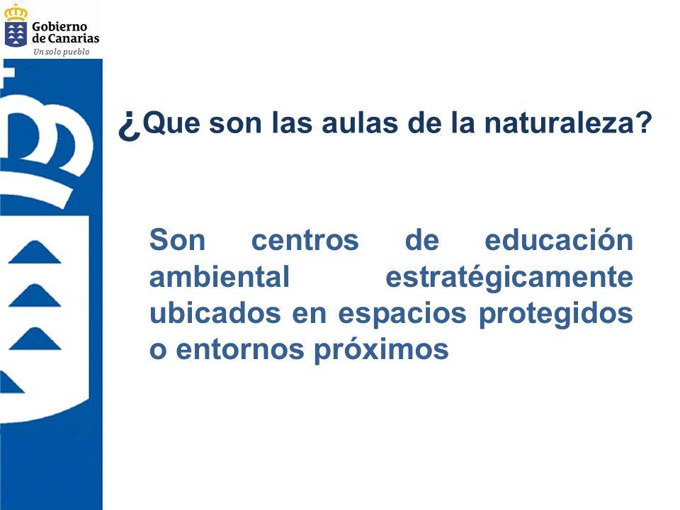 ¿Que son las aulas de la naturaleza