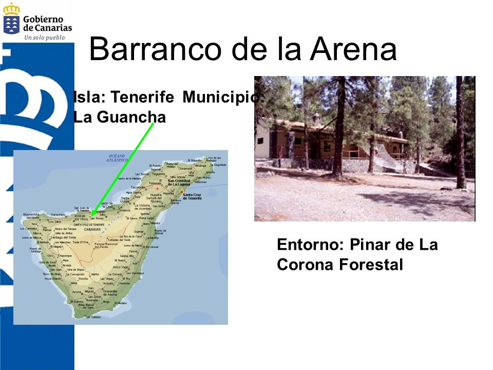 Barranco de la Arena Isla: Tenerife Municipio: La Guancha