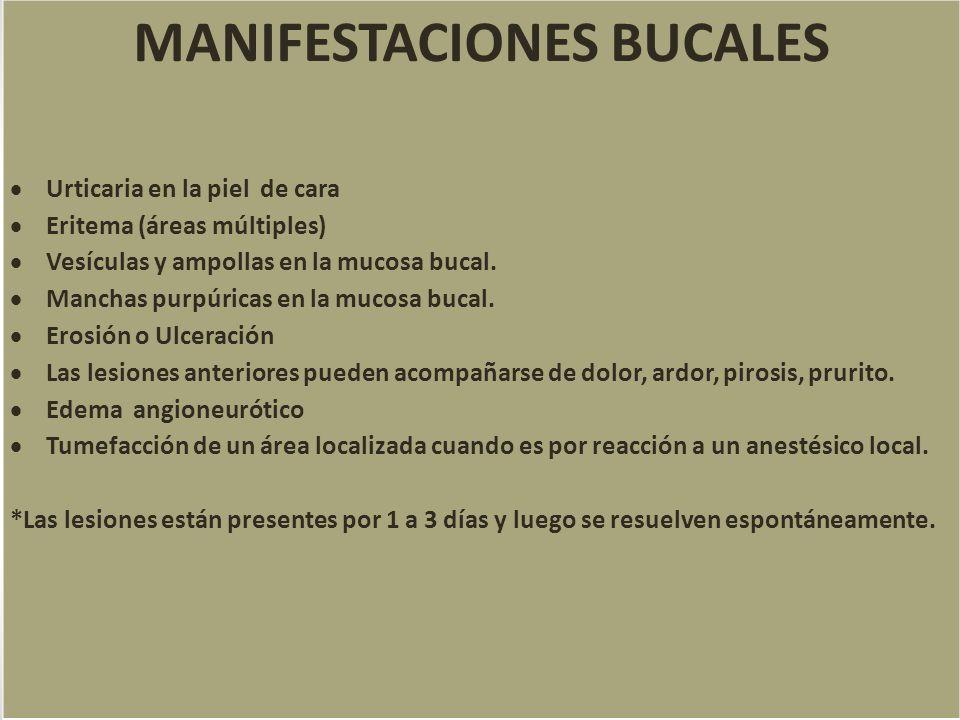 MANIFESTACIONES BUCALES