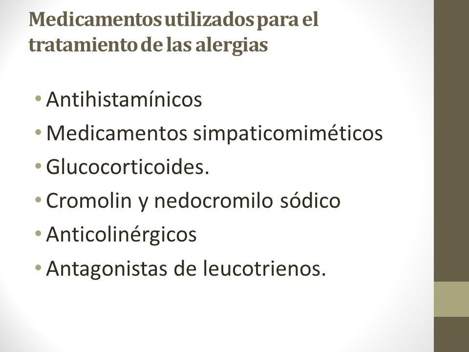 Medicamentos utilizados para el tratamiento de las alergias