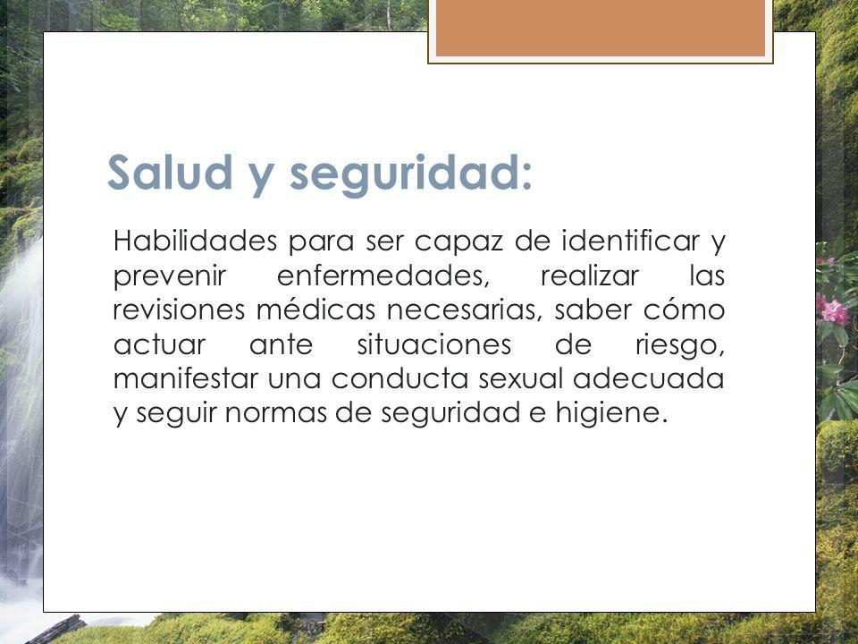 Salud y seguridad: