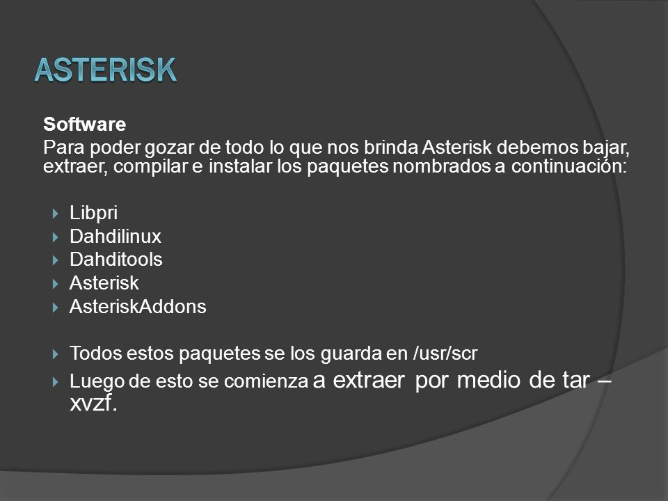 Asterisk Software.