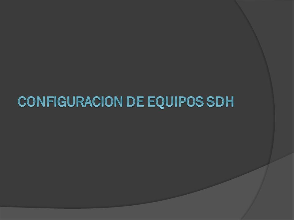 Configuracion de Equipos SDH