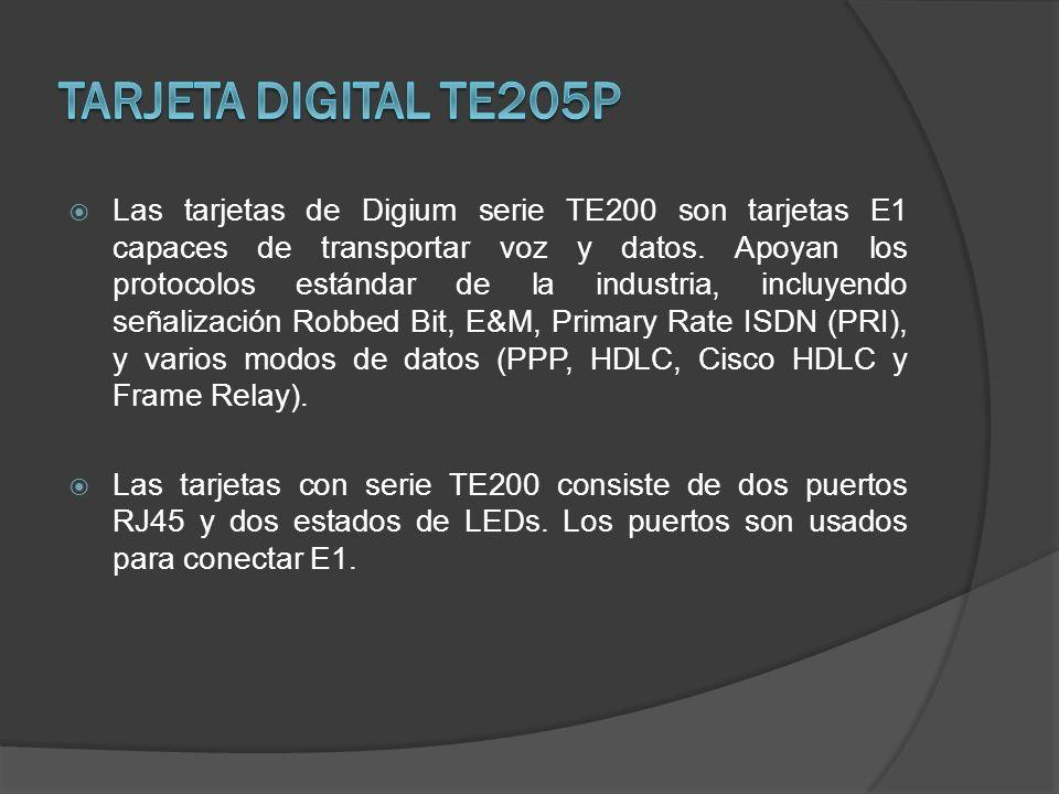 Tarjeta Digital TE205P