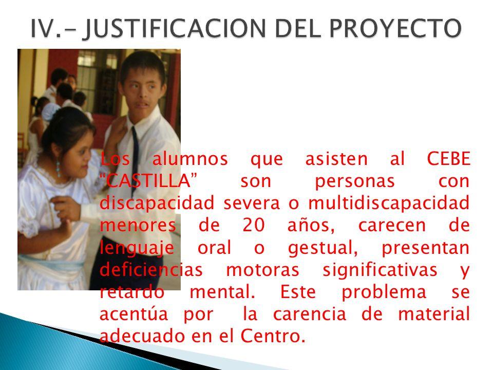 IV.- JUSTIFICACION DEL PROYECTO