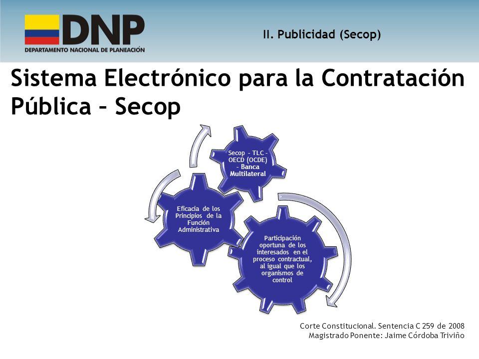 Sistema Electrónico para la Contratación Pública – Secop