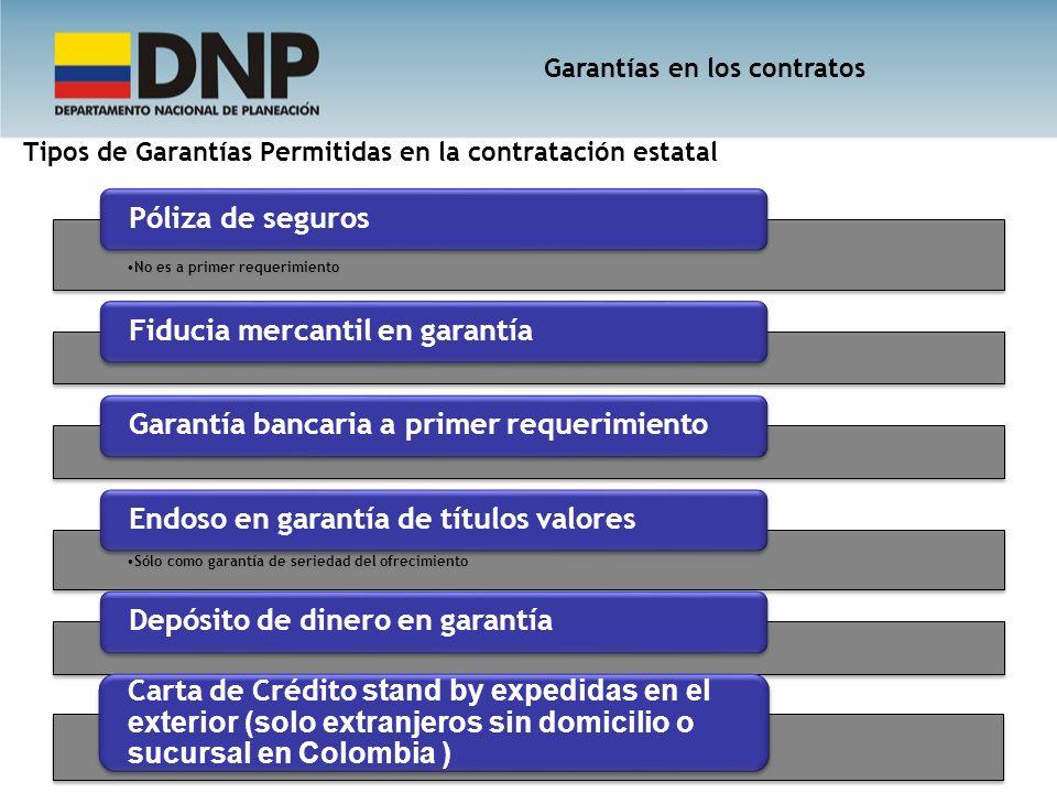 Tipos de Garantías Permitidas en la contratación estatal