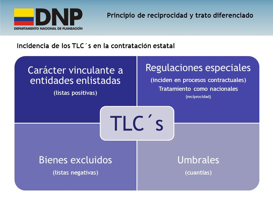 TLC´s Regulaciones especiales