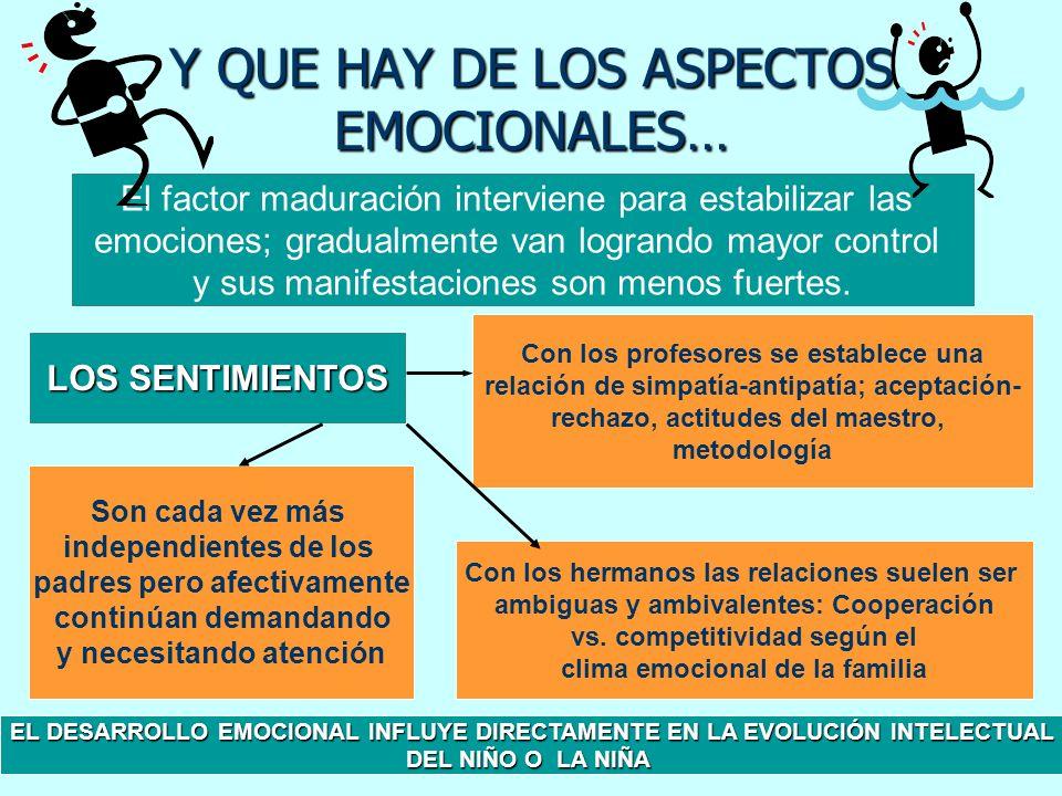 Y QUE HAY DE LOS ASPECTOS EMOCIONALES…