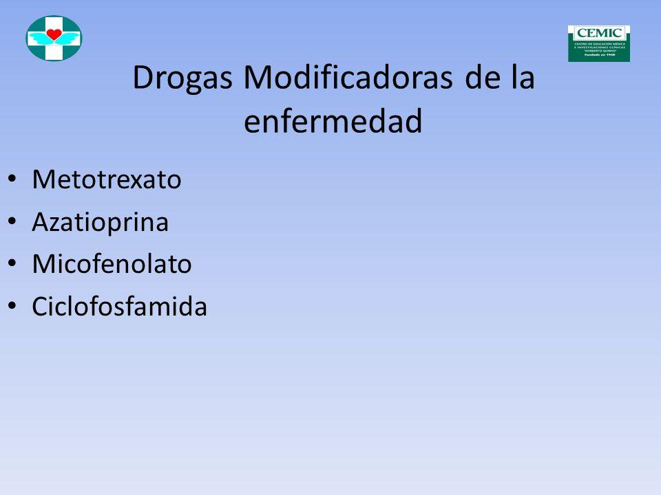 Drogas Modificadoras de la enfermedad