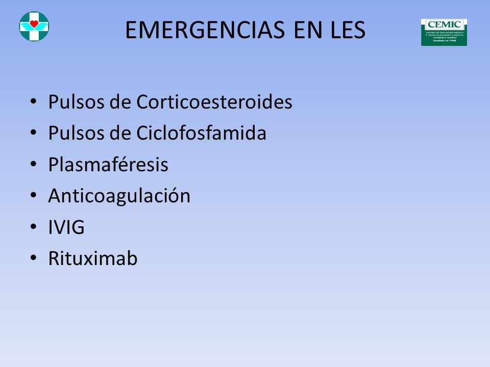 EMERGENCIAS EN LES Pulsos de Corticoesteroides