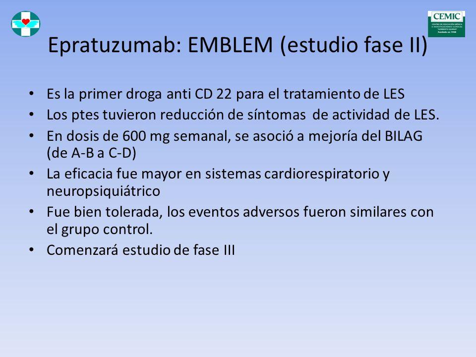 Epratuzumab: EMBLEM (estudio fase II)