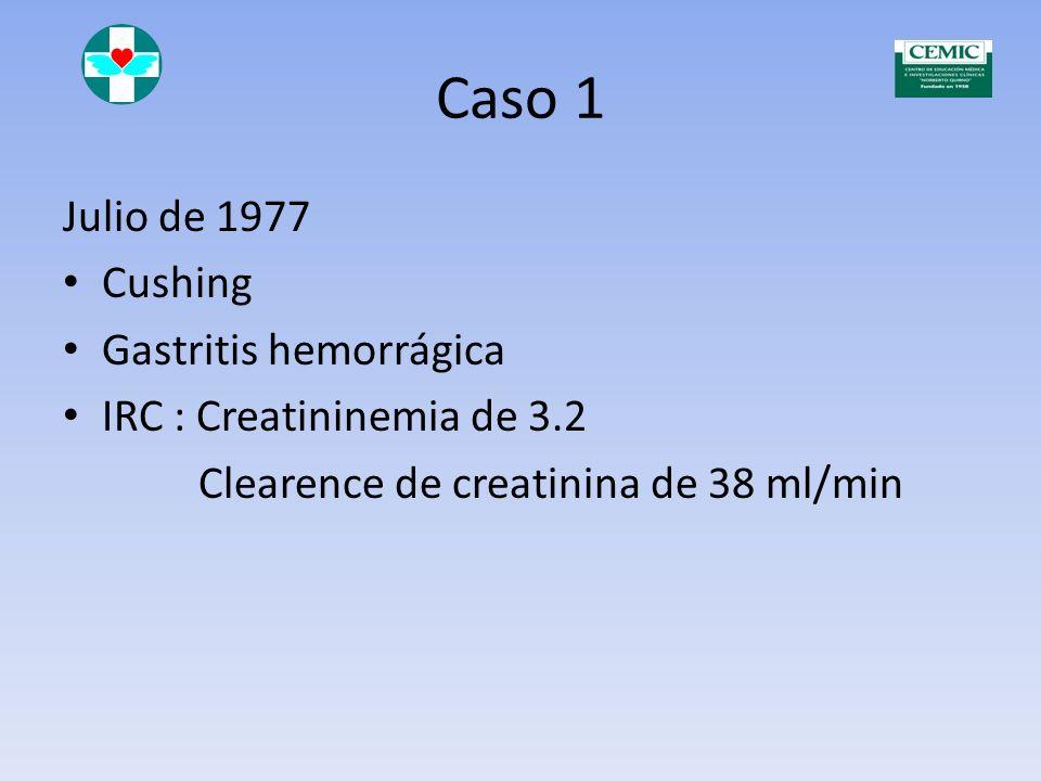 Caso 1 Julio de 1977 Cushing Gastritis hemorrágica