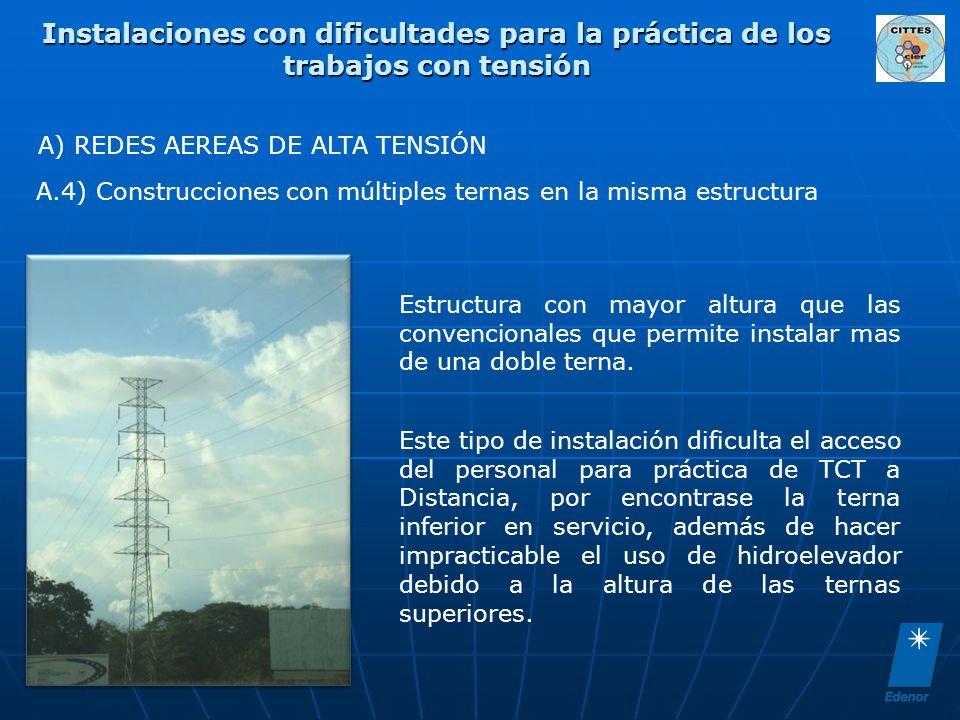 A) REDES AEREAS DE ALTA TENSIÓN