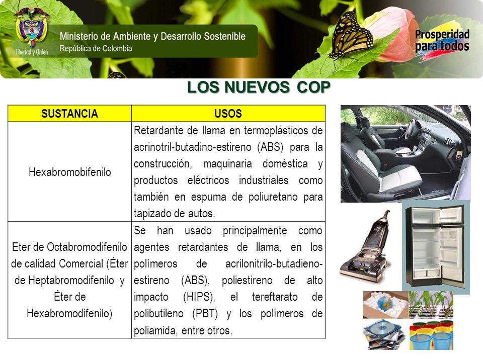 LOS NUEVOS COP SUSTANCIA USOS Hexabromobifenilo