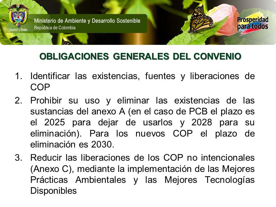 OBLIGACIONES GENERALES DEL CONVENIO