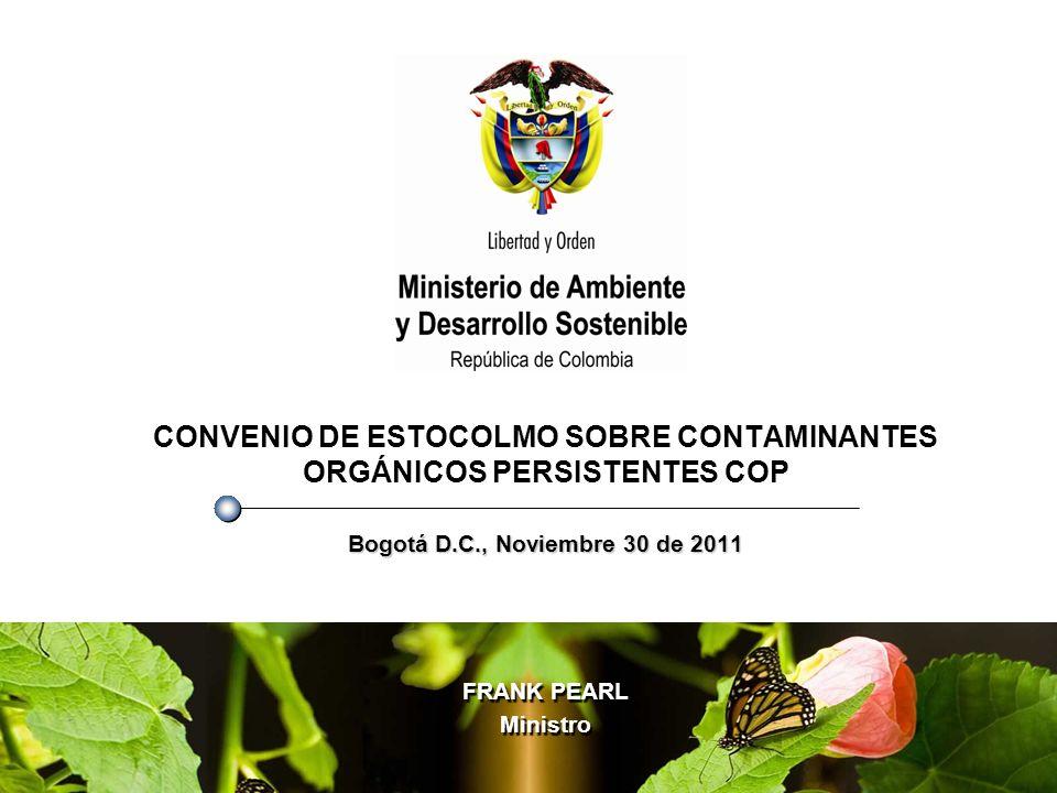 CONVENIO DE ESTOCOLMO SOBRE CONTAMINANTES ORGÁNICOS PERSISTENTES COP