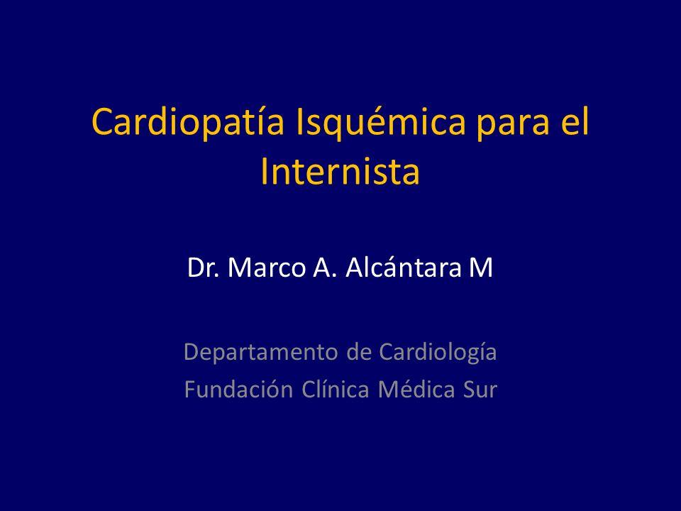 Cardiopatía Isquémica para el Internista