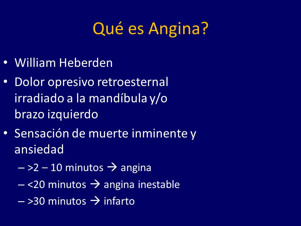 Qué es Angina William Heberden