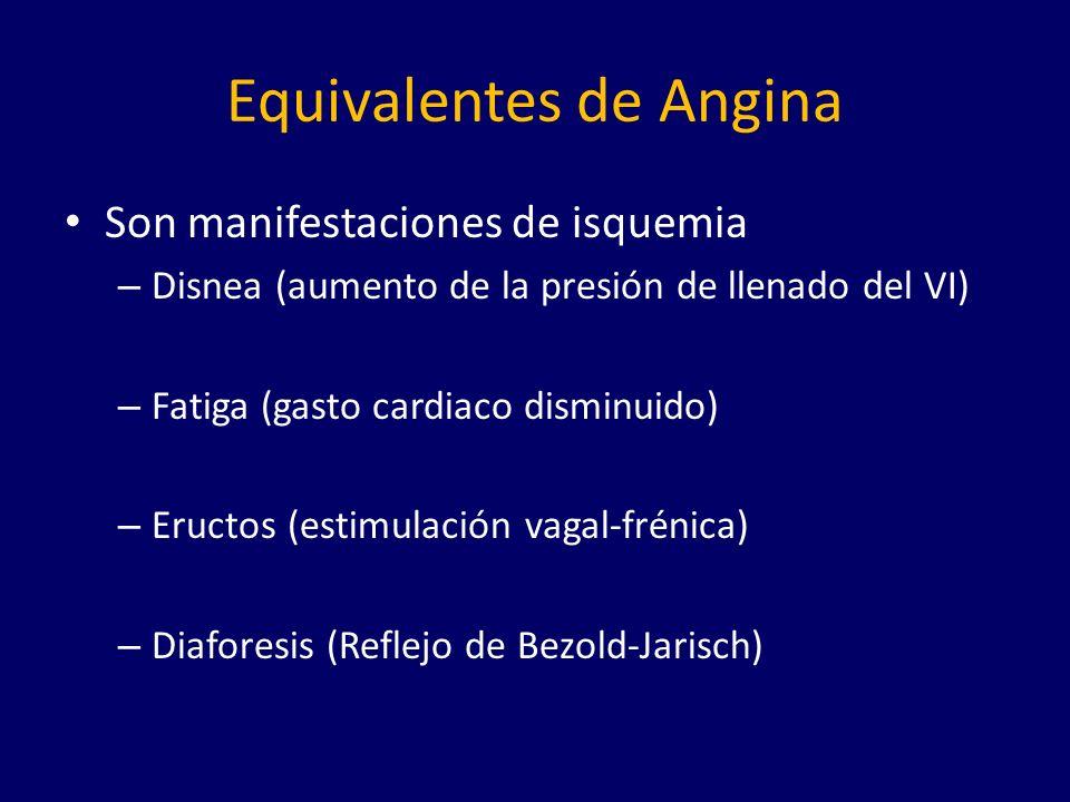 Equivalentes de Angina