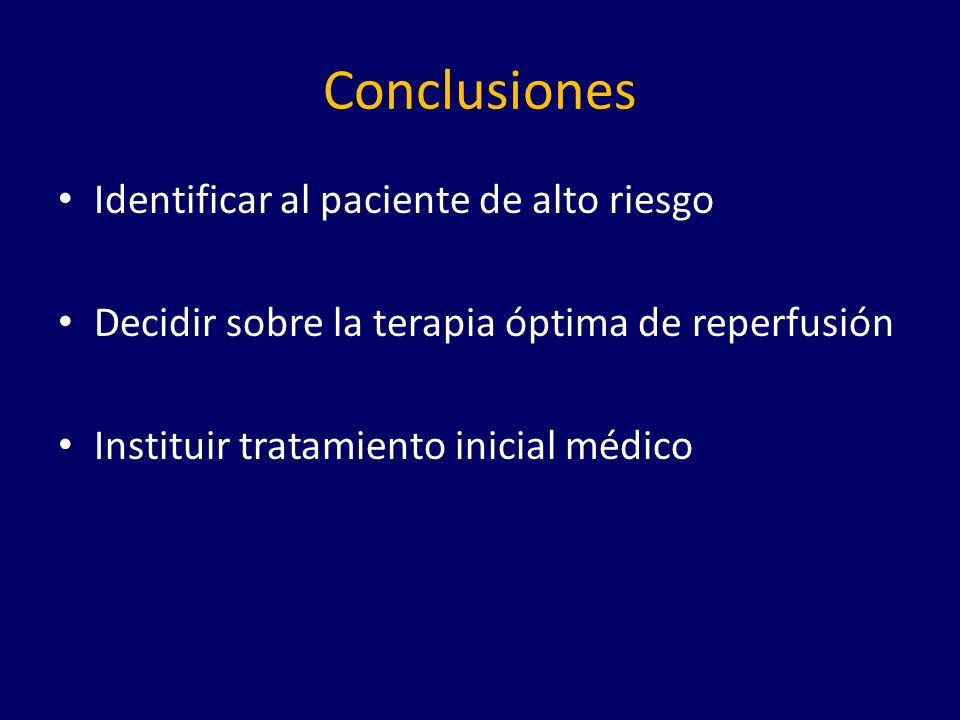 Conclusiones Identificar al paciente de alto riesgo