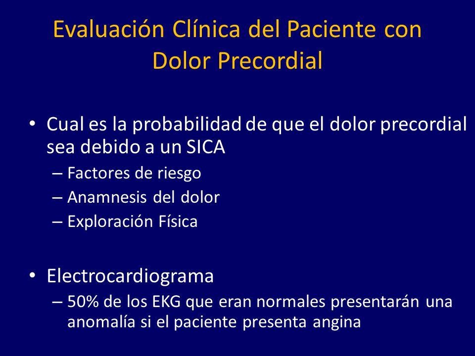 Evaluación Clínica del Paciente con Dolor Precordial