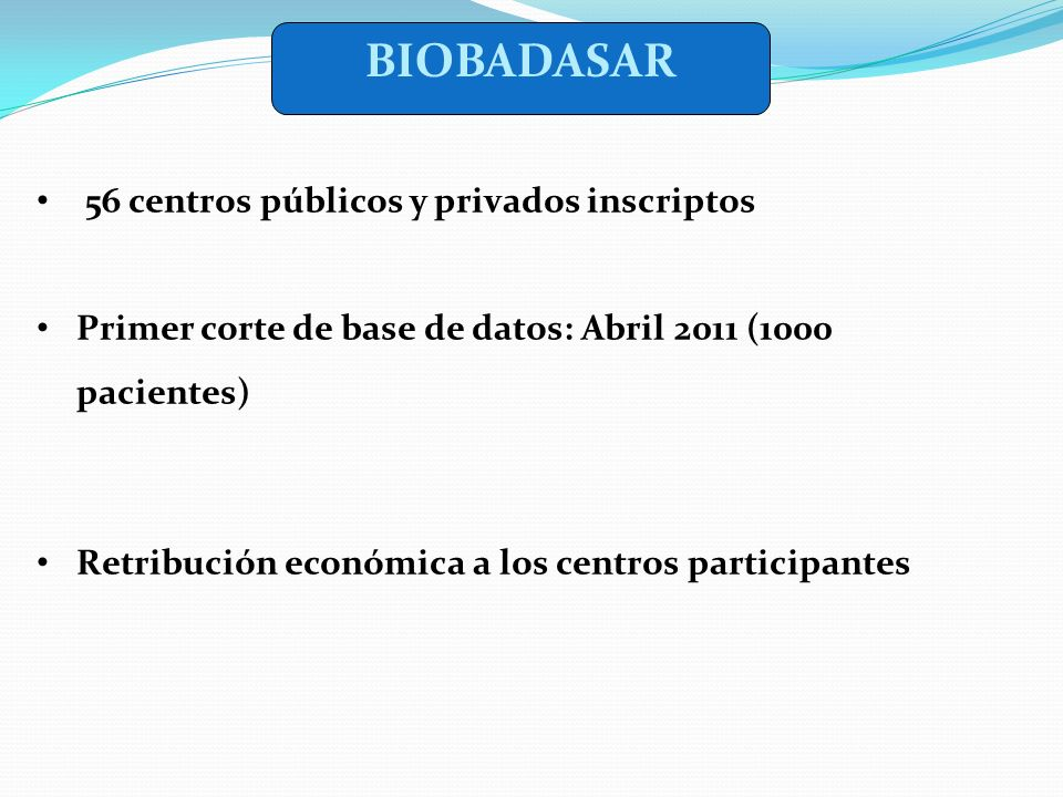 BIOBADASAR 56 centros públicos y privados inscriptos