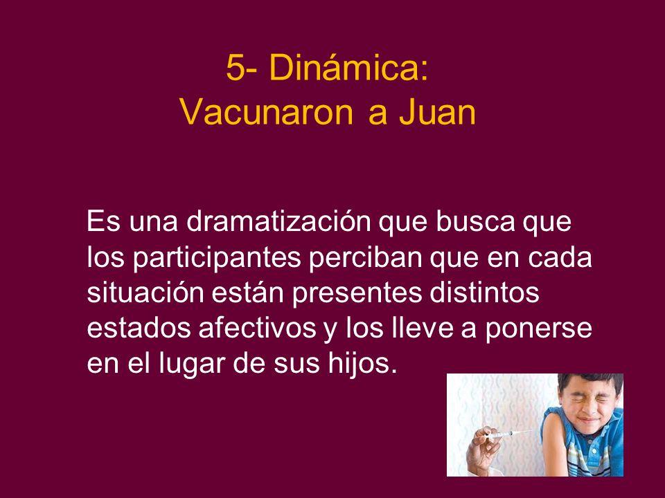 5- Dinámica: Vacunaron a Juan